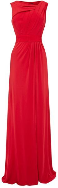 Coast Leighton Jersey Maxi in Red - Lyst