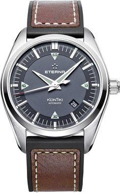 Eterna Watch KonTiki #bezel-fixed #bracelet-strap-rubber #brand-eterna…