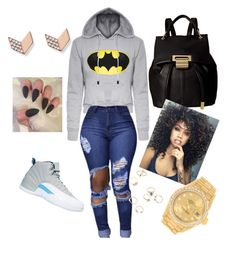 """""""how to wear Jordan's (12s)"""" by wsincere on Polyvore featuring NIKE, Ivanka Trump, FOSSIL and Rolex"""