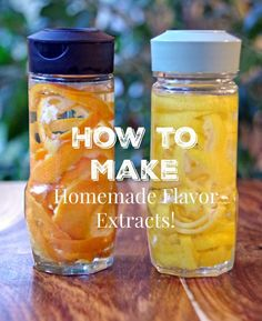 Learn how to make homemade extracts and you will be able to add an amazing amount of flavor into your kitchen creations! Save money and be creative! Everything from homemade vanilla extract to fresh herbs and nuts can add flavor to your next recipe! Homemade Spices, Homemade Seasonings, How To Make Homemade, Food To Make, Homemade Cake Mixes, Homemade Spice Blends, Homemade Smoker, Comida Diy, Homemade Vanilla Extract