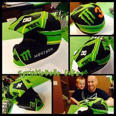 Motorcross Helmet Cake