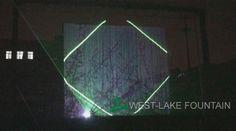 Tela de água para vídeo, Projeção a Laser