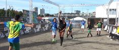 Street Handball Cup 🤾♀️ for first time as an exhibition to Partille Cup with Pinheiros Handebol, Sao Paulo, Brazil 😊  Here players participate with their own teams and played handball for fun country against country with Fair-Play rules on the street handball field with gravel surfaces (25X12 meters) and DJ the whole week 😉 See video click the play button 🤾♀️
