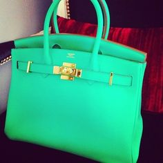 Hail the Hermes Birkin...Love this color.
