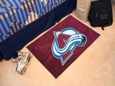Colorado Avalanche NHL Starter Area Rug 1.5 x 2.5 ft.   Man Cave Kingdom