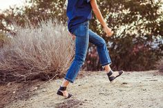 Paloma Jonas wears the Point Sur vintage crop jean.