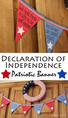 Celebrate July with this Declaration of Independence bunting 5th Grade Social Studies, Social Studies Classroom, Social Studies Resources, Teaching Social Studies, Classroom Themes, History Classroom Decorations, Holiday Classrooms, School Classroom, Classroom Organization