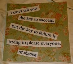 Key to success...Key to failure