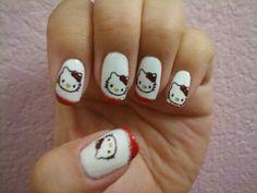 Hello Kitty nails too cute