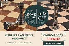 Save 10% on orders above $100 USD * Get Free Shipping✅ * Safe And Secure Checkout ✅ * Satisfaction Guaranteed ✅ #chesspieces #playchess #art #boardgames #game #gameofchess #chesslovers #brass #chessman #worldchess #pawn #chessboards #chesslove #chessnews #chesssets #playchess #woodenchess #chessmaster #trendinggames #famouschessmen #popularchess Wood Chess Board, Chess Pieces, Board Games, Mall, Coding, Brass, Free Shipping, Tabletop Games, Programming