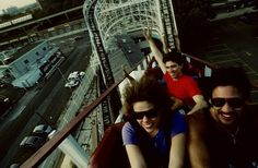 The Cyclone at Coney Island, 1980's ~ Steven Siegel.