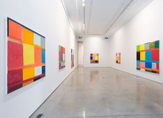 stanley whitney paintings | Installation shot of Stanley Whitney: Other Colors I Forget at Team ...