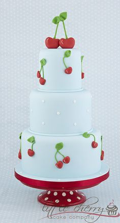 Cherry Wedding Cake by Little Cherry Cake Company, via Flickr