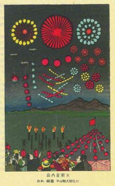 Illustration from Alan Brock's 'Pyrotechnics: The History and Art of Firework Making' (1922) Via Paraphilia Magazine