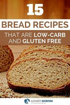 This is a list of 15 recipes for healthy low-carb and gluten free breads. All of them are very simple to make and taste incredible. Learn more here: http://authoritynutrition.com/15-low-carb-bread-recipes/