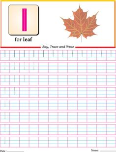Letter Tracing: small letter L