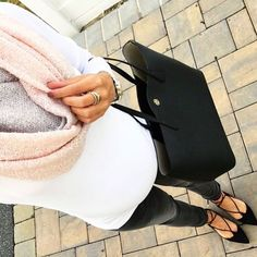 """I swear my belly has doubled in size since last week  Shop my #ootd with @liketoknow.it [ www.liketk.it/1NDRe ] #liketkit **this soft infinity scarf is…"""
