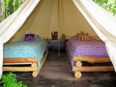 Perfect for a girls weekend of glamping beachfront in Panama.