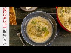 Λαχανοντολμάδες αυγολέμονο   Yiannis Lucacos - YouTube Hummus, Main Dishes, Ethnic Recipes, Youtube, Food, Main Course Dishes, Entrees, Essen, Main Courses