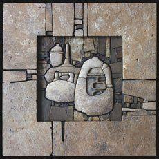 Still Life -  relief mosaic 500x500 Sayanogorsk 2009 Easel mosaic - Sergey Karlov