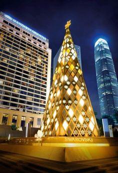 Swarovski Crystal #ChristmasTree  Discover more at http://impressivemagazine.com/2013/11/29/10-unconventional-christmas-trees/