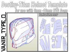 Destiny Titan Helmet. Vanir Type 0. Template by AtombombStudios