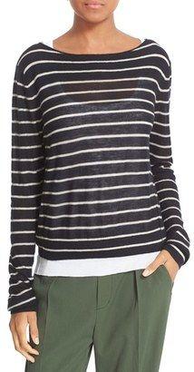 Shop Now - >  https://api.shopstyle.com/action/apiVisitRetailer?id=602287138&pid=uid6996-25233114-59 Women's Vince Stripe Lightweight Cashmere Sweater  ...