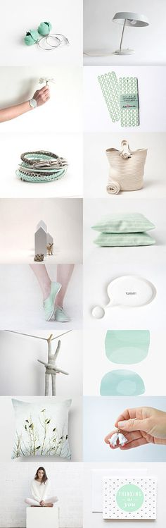 hello july :: treasury by Barbara on #Etsy #mint #white #gifts #trends #fashion #home #decor #accessories