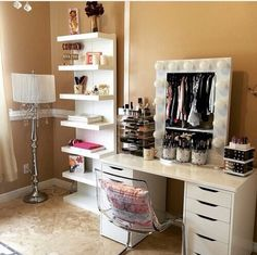 Makeup Room Ideas - As a woman, your makeup area is your one area to dream, design and also to develop. This space is a full representation of you and also that you intend to be. Directly, just what I locate one-of-a-kind about this area or space