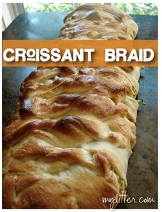 Pampered Chef Easy Croissant Broccoli Braid Recipe --- Oh! I haven't had this in YEARS!! I really need to make this, it is seriously tasty!