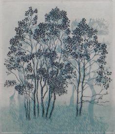 Inari Krohn: Puut rannalla Illustration Art, Illustrations, Water Lilies, Finland, Painting & Drawing, Cool Art, Photo Wall, Trees, Inspirational
