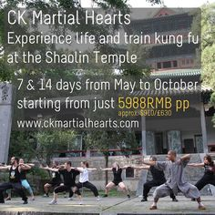 Prices for our #kungfu programs at #Shaolin are amazing value and a perfect way to experience the temple and surrounding areas in a deeper way than by just visiting for a day or two! From around $108 / 76 / 713RMB (depending on exchange rates) per day you get all transportation from Beijing accommodation meals 7 hours daily training (taichi qigong and kungfu) native English-speaking guide and training gear! See http://ckys.info/1hqNNl9 for more info!