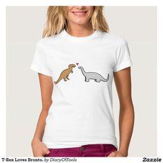 T-Rex Loves Bronto. T-Shirt