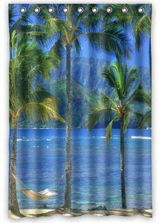 Genial Hawaiian Style Shower Curtain   Hawaiian Decor   Pinterest   Hawaiian, Hawaiian  Decor And Master Bathrooms