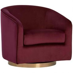 Hazel Chair, Burgundy – High Fashion Home