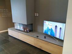 Open haard in tv meubel
