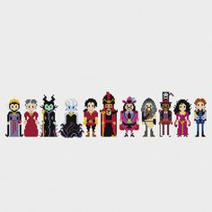 Disney Princess Villains Cross Stitch Pattern PDF Instant Download