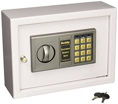 Buddy Products 3211-32 Small Electronic Drawer Safe, Heavy Duty Steel, 4.75 x 8.75 x 11.875-Inches, Platinum