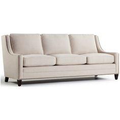 Hawkes Sofa ($1,650) ❤ liked on Polyvore featuring home, furniture, sofas, nail head sofa, nailhead sofa, nailhead couch, nailhead trim sofa and nailhead furniture