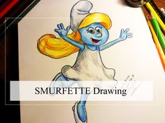 Drawing Smurfette in colored pencils. Learn how to draw smurfette and the smurfs.