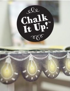 Chalk It Up! Lightbulbs Border - Add excitement to bulletin boards or windows with this unique border!