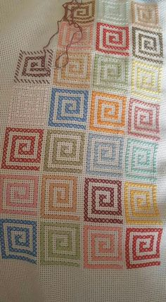 Blackwork Cross Stitch, Cross Stitch Geometric, Cross Stitch Needles, Cross Stitch Borders, Modern Cross Stitch Patterns, Cross Stitch Flowers, Cross Stitch Designs, Cross Stitching, Cross Stitch Embroidery