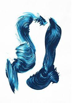 James Nares, Three Aces - Blue