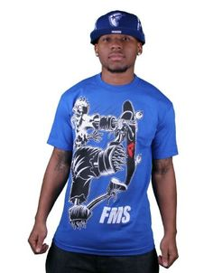 Famous Stars and Straps Death Wish Roya Blue Mens T-Shirt