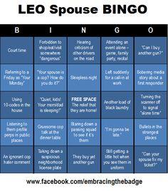 HAHA: LEO Spouse Bingo