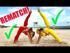 gymnastics/ acro handcuffed to my twin challenge  the