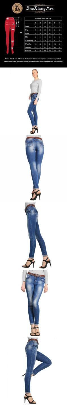 5c363d4db9c1 2017 Brand Skinny Denim Fashion High Waist Pants For Ladies Holes Denim  Jeans Printed Jeans For Women Plus Size 30 Women Jeans