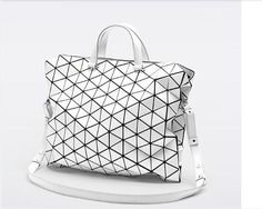 Unbranded Plaid Matte White Messenger bag women handbag Big size #Handmade #MessengerCrossBody