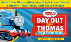 Win Tickets to Enjoy a Day Out with Thomas at the Grapevine Vintage Railroad. 3 Winners - Ends Friday, April 5th at Midnight
