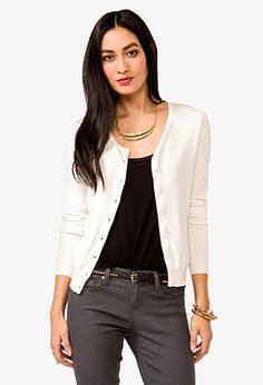 Essential Scoop Neck Cardigan Sweater | FOREVER21 - 2030187150